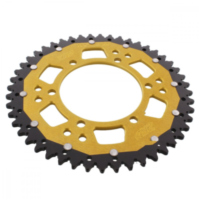 REAR SPROCKET DUAL 48 TOOTH PITCH 520 GOLD ZFD48648GLD
