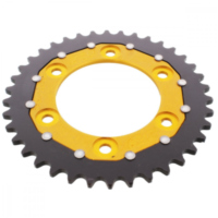 REAR SPROCKET DUAL 38 TOOTH PITCH 520 GOLD