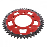 REAR SPROCKET DUAL 46 TOOTH PITCH 520 RED