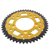 Rear sprocket dual 48 tooth pitch 520 gold ZFD74648GLD