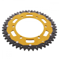 REAR SPROCKET DUAL 47 TOOTH PITCH 520 GOLD ZFD85547GLD