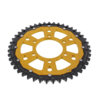 REAR SPROCKET DUAL 45 TOOTH PITCH 530 GOLD ZFD81645GLD