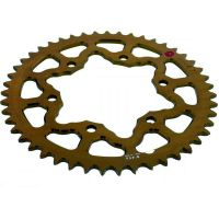 Rear sprocket aluminium 47 tooth pitch 520 gold 201M 52047G
