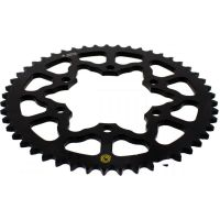 Rear sprocket aluminium 49 tooth pitch 525 black