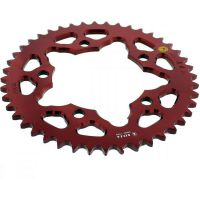Rear sprocket aluminium 44 tooth pitch 525 red