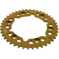 Rear sprocket aluminium 42 tooth pitch 530 gold