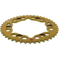 Rear sprocket aluminium 43 tooth pitch 530 gold