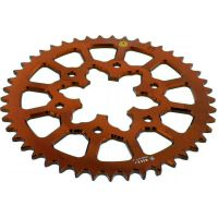 Rear sprocket aluminium 45 tooth pitch 520 orange