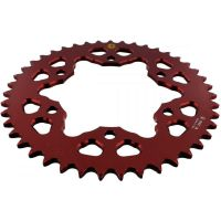 Alu chain wheel 43T pitch 520 red 201M 52043R