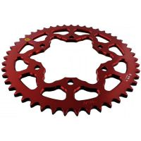 Alu chain wheel 47T pitch 525 red