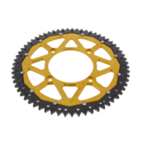 Rear sprocket dual 63z pitch 428 gold
