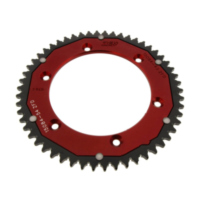 Rear sprocket dual 54 tooth pitch 428 red