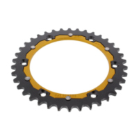 Rear sprocket dual 38 tooth pitch 520 gold ZFD82238GLD