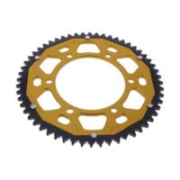 Rear sprocket dual 56 tooth pitch 428 gold ZFD149456GLD
