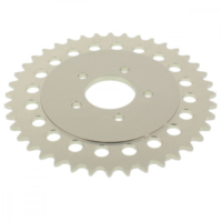 Rear sprocket aluminium 40 tooth pitch 415 silver 511220040