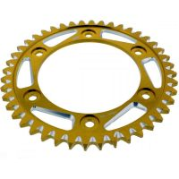 Rear sprocket aluminium 44tooth pitch 530 gold