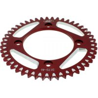 Alu chain wheel 46T pitch 428 red