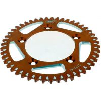 Rear sprocket aluminium 47tooth pitch 420 orange