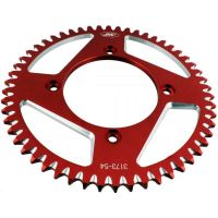 Alu chain wheel 54T pitch 428 red