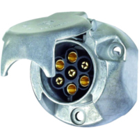 Socket  7-pole 12V aluminium