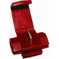 Insltd snap connector 0.25-1 red