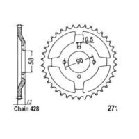 Rear sprocket 50 tooth pitch 428 JTR27150