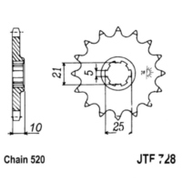 Front sprocket 15tooth pitch 520 JTF72815 für Cagiva Canyon  500 M100AA 1998