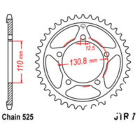 Rear sprocket 45 tooth pitch 525 sil für BMW S ABS 1000 K10/K46 2014