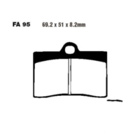 Brake pads std ebc FA095 für Ducati Supersport Carenata 600 600S 1994 (front)