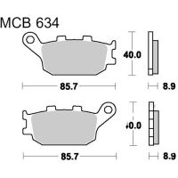 Brake pads std trw MCB634 für Honda CBR  600 PC31 1995 (rear)