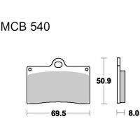 Brake pads std trw MCB540 für Ducati Supersport Carenata 600 600S 1994 (front)
