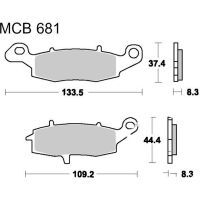 Brake pads std trw MCB681 für Suzuki VL Intruder 1500 AL2111 2009 (front right)