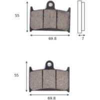 disk brake pads Lucas MCB 690 SV ABE approved