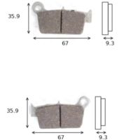 disk brake pads MCB 739 RSI not homologated