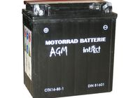 Intact Bike Power battery CTX 16-BS-1, maintenance-free -incl. acid-package für Suzuki VL Intruder 1500 AL2111 2009