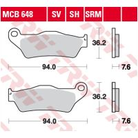 TRW Lucas disc brake pad MCB648 für Moto Guzzi Bellagio  940 LY000 2010-2010 (rear)