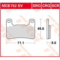 TRW Lucas sinter disc brake pad MCB752SV für Suzuki M Intruder 1800 CA1111 2014-2014 (vorn left,vorn right)