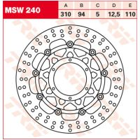 TRW Lucas brake disc MSW240, floating für Honda CB  1300 SC54 2006-2008 (vorn left,vorn right)