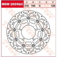 TRW Lucas brake disc MSW255RAC, floating für Suzuki M Intruder 1800 CA1111 2014-2014 (vorn left,vorn right)