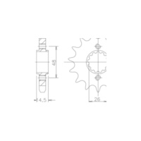 Pinion gear, 17 teeth 92-35004-17 für Honda CB  1300 SC54 2006-2008 (alternativ)