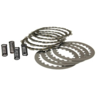 clutch plate / disc set, cork and steel plates incl. springs for Minarelli AM, Generic, KSR-Moto, Keeway, Motobi, Ride, 1E40MA,  für Beta RR Motard 50  2007