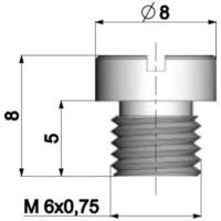 100 Hauptd/üse f/ür DELLORTO Vergaser 6mm