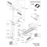 folding mechanism for Polini Skate City Roller 917.740.005