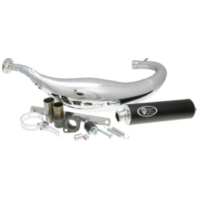 exhaust Turbo Kit Carreras 80 chrome for Minarelli AM CARR10-C für Beta RR Motard 50  2007