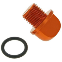 oil filler screw / oil screw plug aluminum orange in color incl. o-ring for Minarelli VC21177 für Beta RR Enduro Factory 50  2015-2016