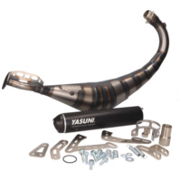 exhaust Yasuni Carrera R3 MAX black for Offroad, SM, Minarelli AM, Derbi D50B0, EBE, EBS YA809XB für Beta RR Motard 50  2007